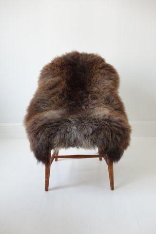 Brun fluffy Lammeskind - Large