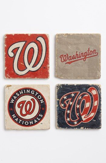 'Washington Nationals' Marble Coasters (Set of 4) available at #Nordstrom