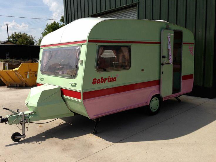 2 Berth Renovated Glamping Vintage Retro Revamped green pink red Elddis Caravan