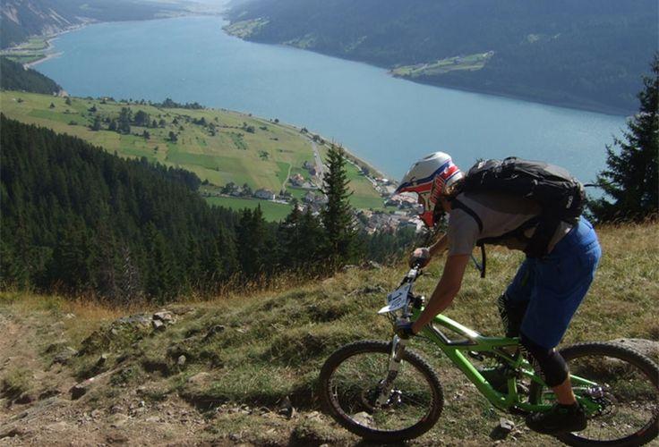 3-Länder Bike Enduro Area #Reschenpass, at the Italian-Austrian boarder