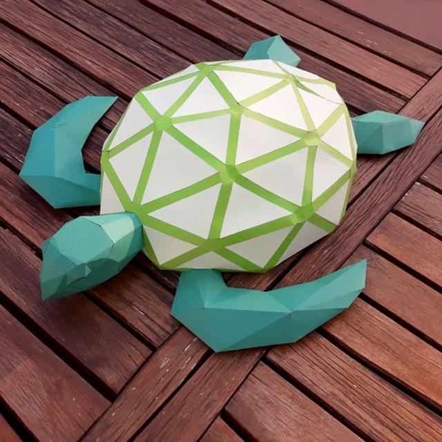 Jacky Chan - Green Turtle | Green turtle, Turtle, Origami | 640x640