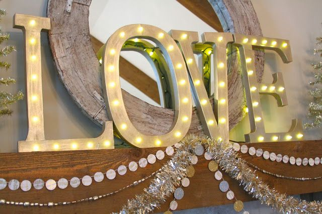 DIY for letter lights from Nesting in the Bluegrass: One Little Word for 2014
