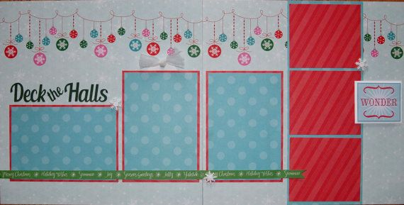 Christmas Scrapbook Pages Premade by PaperPrettiesandMore on Etsy