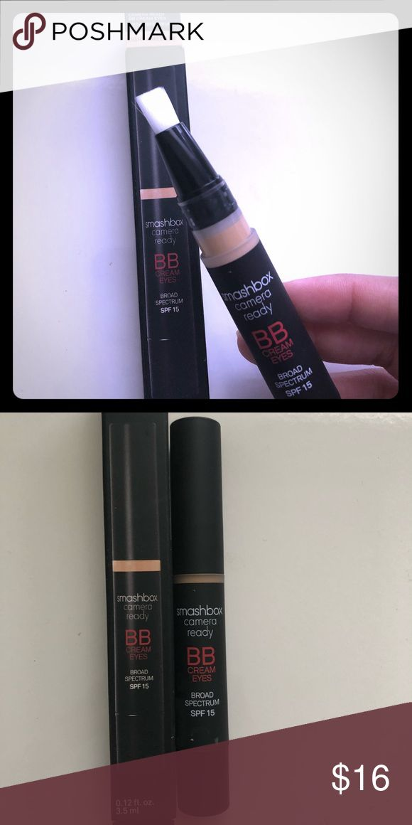 Smashbox BB cream eyes BRAND NEW BB cream in Light/Medium. This offers the coverage of a concealer. It comes with the box. 🚫trades Smashbox Makeup Concealer