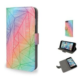 Billy Rays Neon Wallet Style Vegan Leather Phone Flip Case by Fimbis  #rainbow #iphone #googlepixel