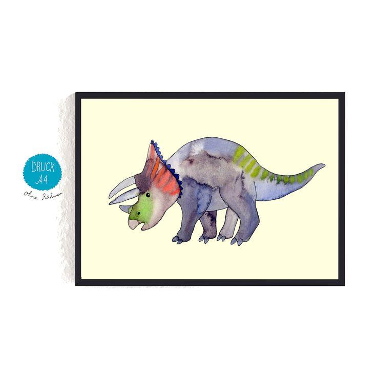 Luxury Print Triceratops dino dinosaurier kinderzimmer frauottilie