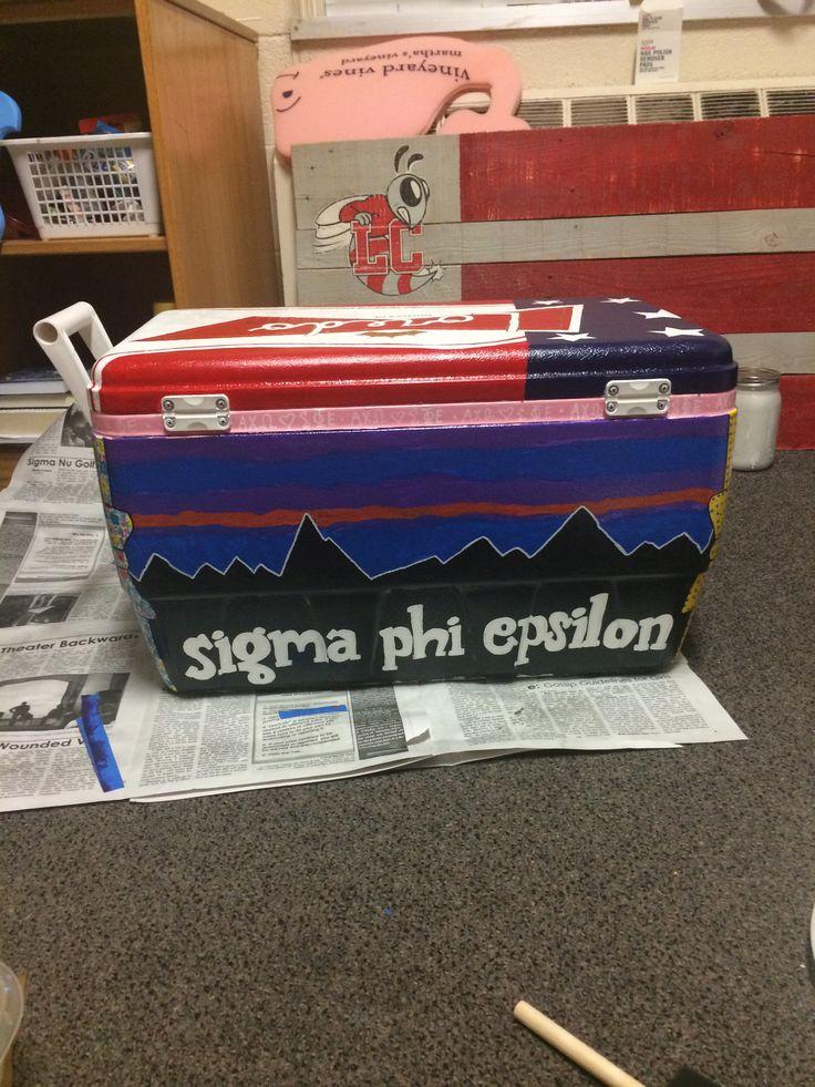 Sigma phi epsilon cooler I painted
