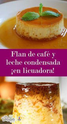 Disfruta de este riquísimo flan de café en licuadora. Es muy fácil de hacer y a tu familia le encantará.