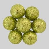 20mm Lime Green glitter ball clusters   Code : BACL002GRGL