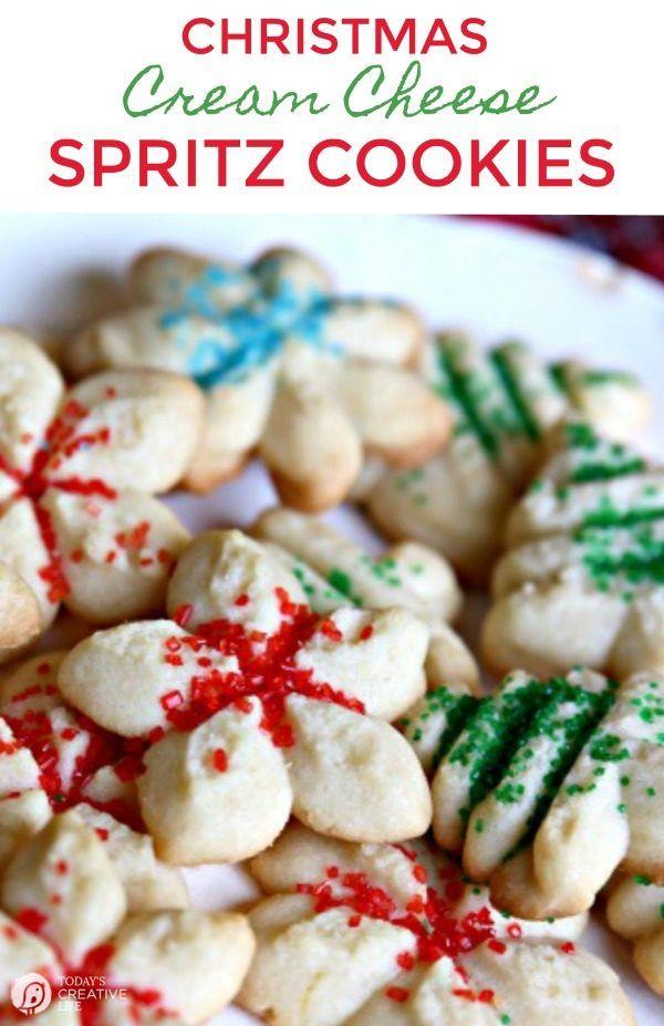 Cream Cheese Spritz Cookie Recipe Recipes On Today S Creative