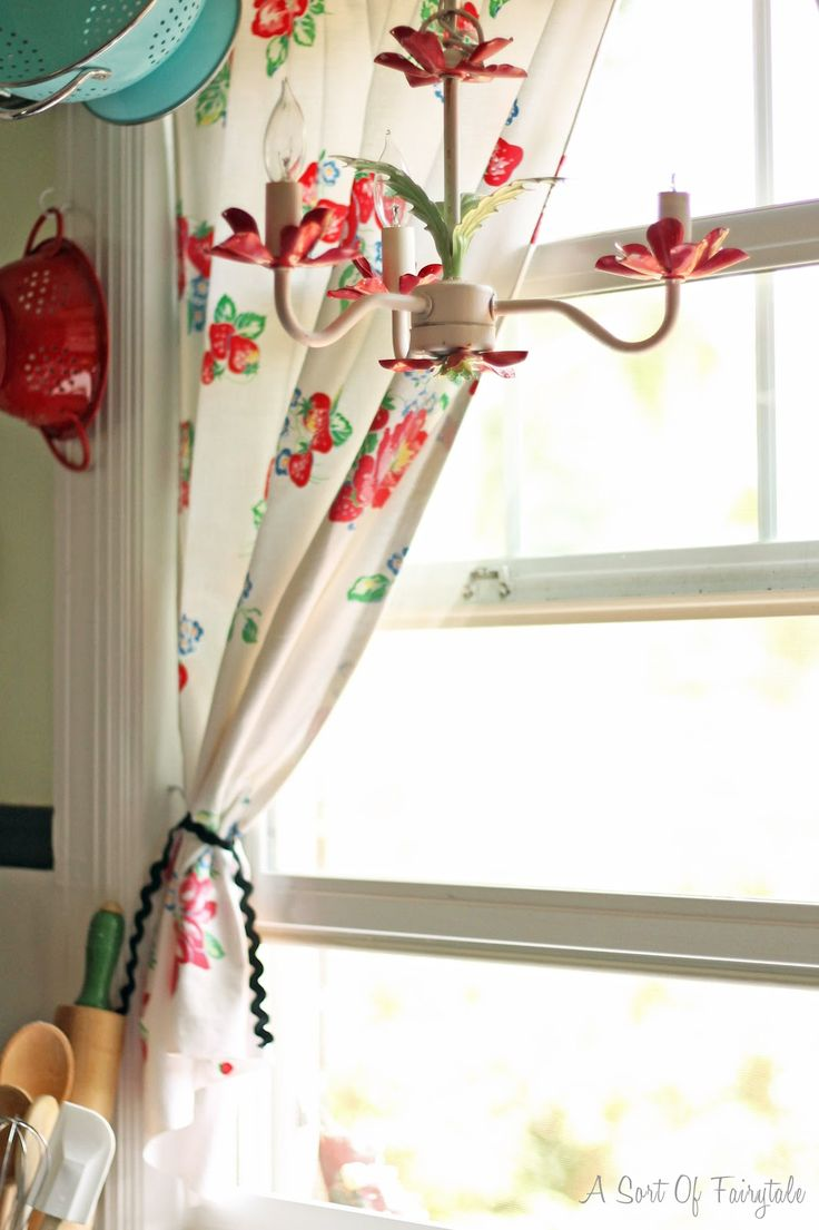 Strawberry Kitchen Curtains The 25 Best Ideas About Tablecloth Curtains On Pinterest