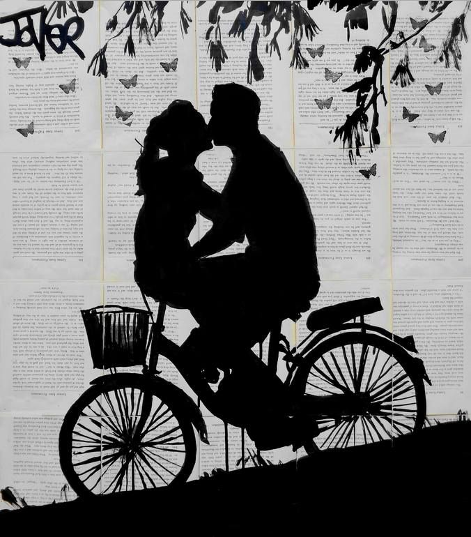 "Saatchi Art Artist: Loui Jover; Ink 2014 Drawing ""a little love and adventure"""