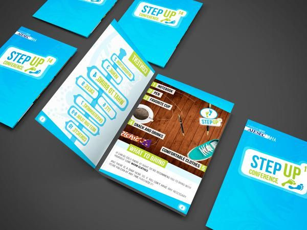 "Andrii Live on Twitter: ""#AIESEC StepUp Conference logo and Delegates Booklet. +1 work in my portfolio #web #design #graphicdesign #logo http://t.co/JjfKjVh99h"""