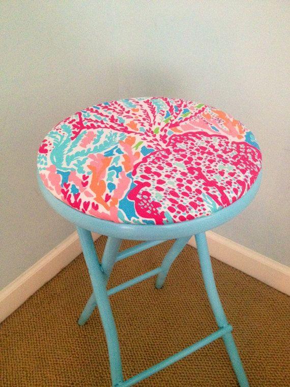 lilly pulitzer lets cha cha folding stool