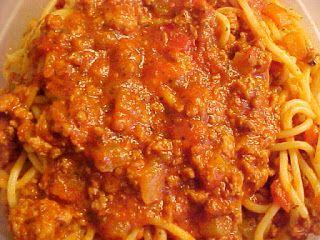 Une improvisation, j'avais le goût d'un bon spaghetti avec une sauce à la viande et je voulais faire changement de ce que je fais habitue...