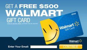 Free $500 Walmart Gift Card http://azfreebies.net/free-walmart-gift-card/