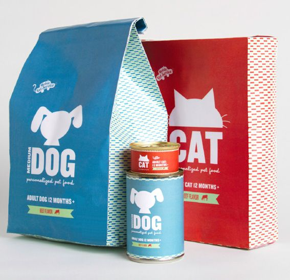 Katie Daugherty- Pet Food.  Clever you can personalize this packaging.