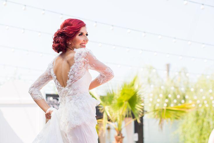 A beautiful bride #bride #weddingdress #lace #wedding #georgeionita