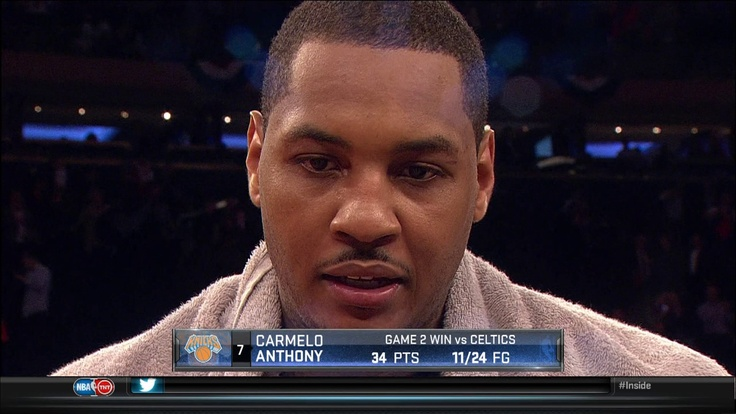 Carmelo Anthony @carmeloanthony Game 2 stats vs #Celtics  #Knickstape