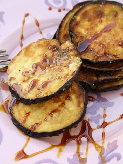 berejenas con miel (fried eggplant with honey). pair it with goat cheese!