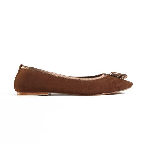 SUNYI TASSLE FLATS in Choc Suede/Bronze Napa Leather Trim for Winter 14 JodiLee. Available sizes 36-42 www.jodilee.com.au Facebook: JodiLee Instagram: jodileedesigns