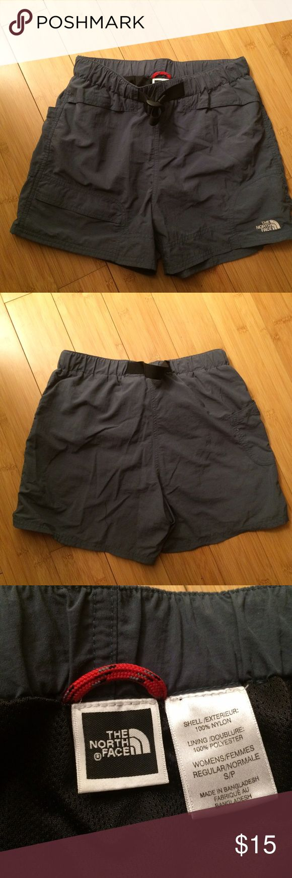 North Face hiking shorts North Face hiking shorts. Women's size small. Blueish gray color. North Face Shorts Cargos