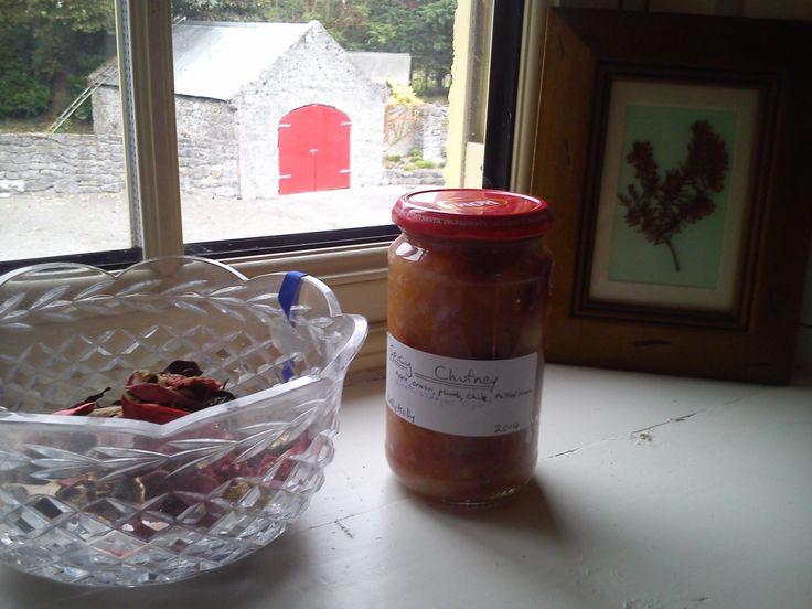 This jar contains some Chutney I made yesterday. It is probably the most home made thing I have ever made. It is a subtle blend of Ireland, Morocco and India, which would place it physically some...