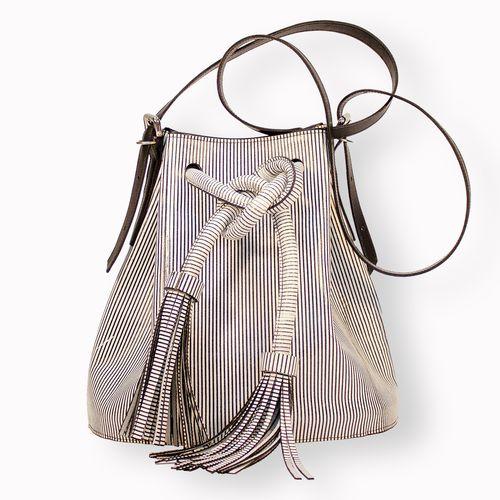 STRIPE BUCKET BAG