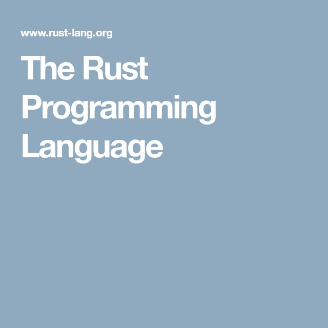 Best 25+ Rust programming language ideas on Pinterest D - specific language programmer resume