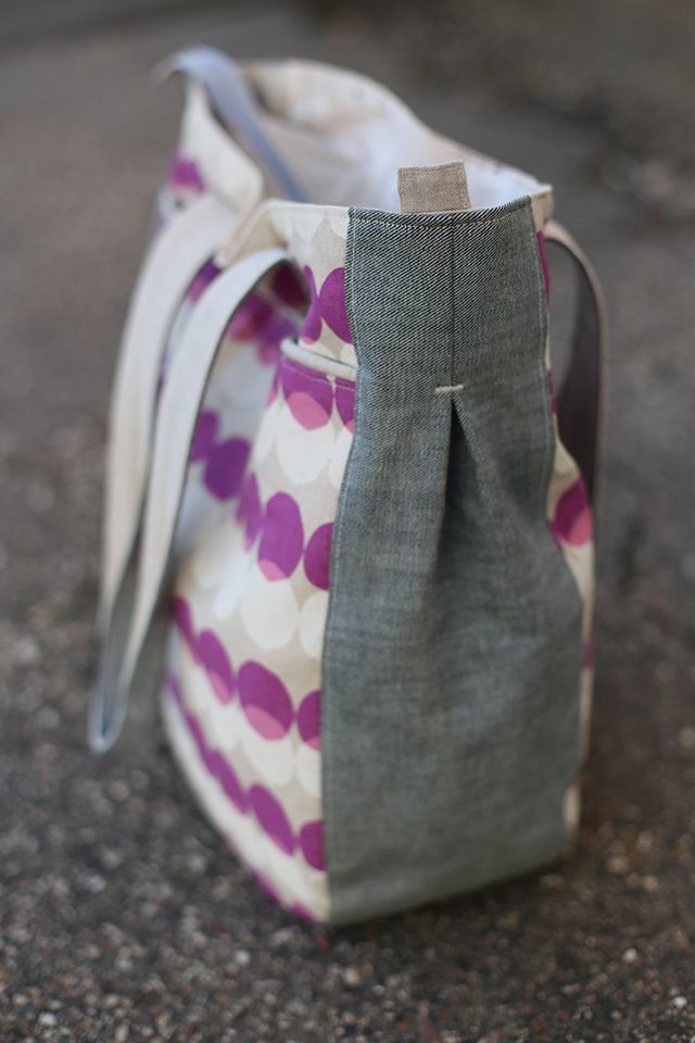 noodlehead: Purple Super Tote (diaper bag idea?)