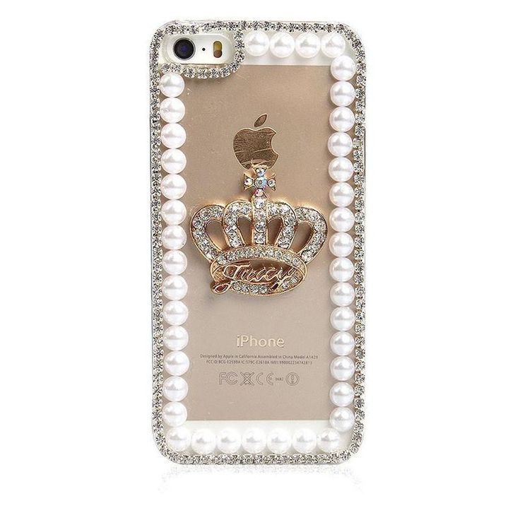 Rhinestone Crown Case for iPhone Models