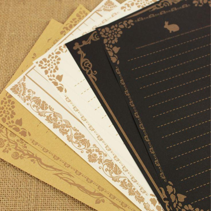 8 sheetsset European Vintage Style Writing Paper