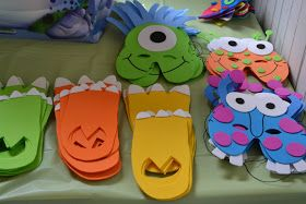 Nifty Thrifty & Thriving: Monster Birthday Party- masks for kids to wear!