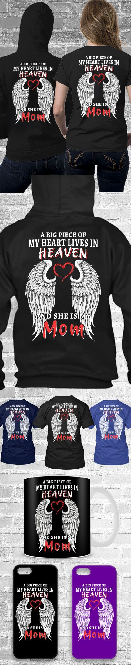 Big Piece In My Heart-Mom Shirt! Click The Image To Buy It Now or Tag Someone You Want To Buy This For.  #mominheaven