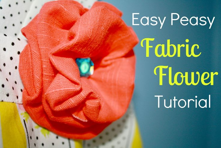 Super easy fabric flower tutorial, these are soooo cute and sooo easy! Going to go try making one right now!