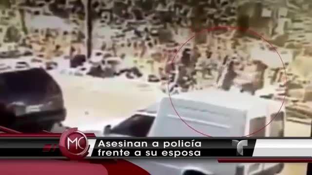 Captado En Video Ladrones Le Quitan La Vida Teniente De La Policía Frente A Su Esposa #Video