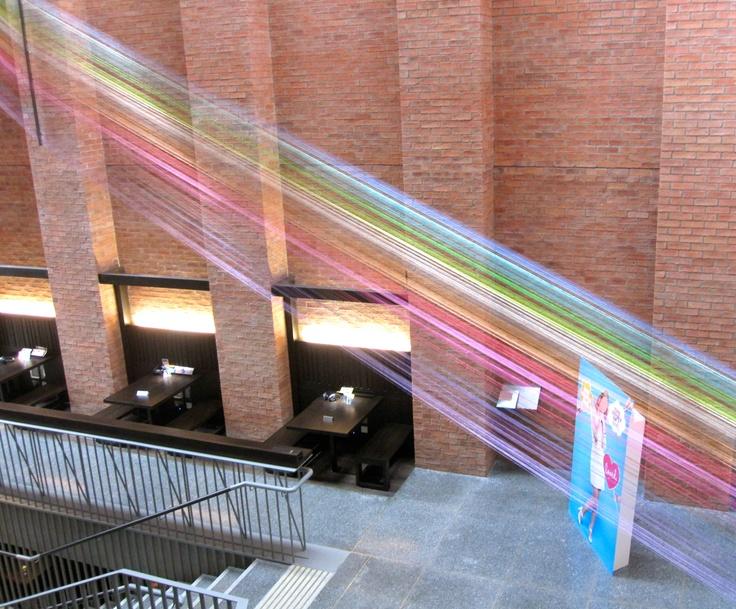 thread installation at the MAC Belfast: Mac Belfast, Ireland Today, Northern Ireland, Installation Inspiration