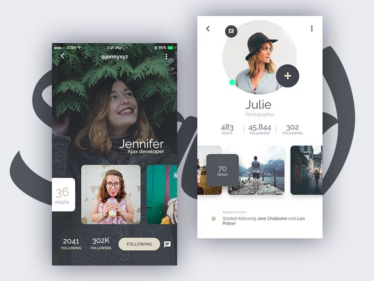 Squid UI Kit - Profile by Joshua