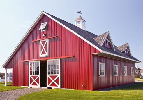 Best 25 red barns ideas that you will like on pinterest for Red metal barn