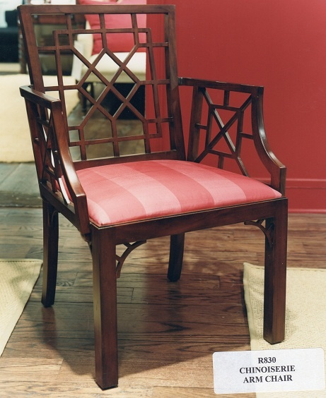 Charming Ralph Lauren Chinoiserie Dining Arm Chair (Retired / Vintage)  Www.PacificHeightsPlace.com