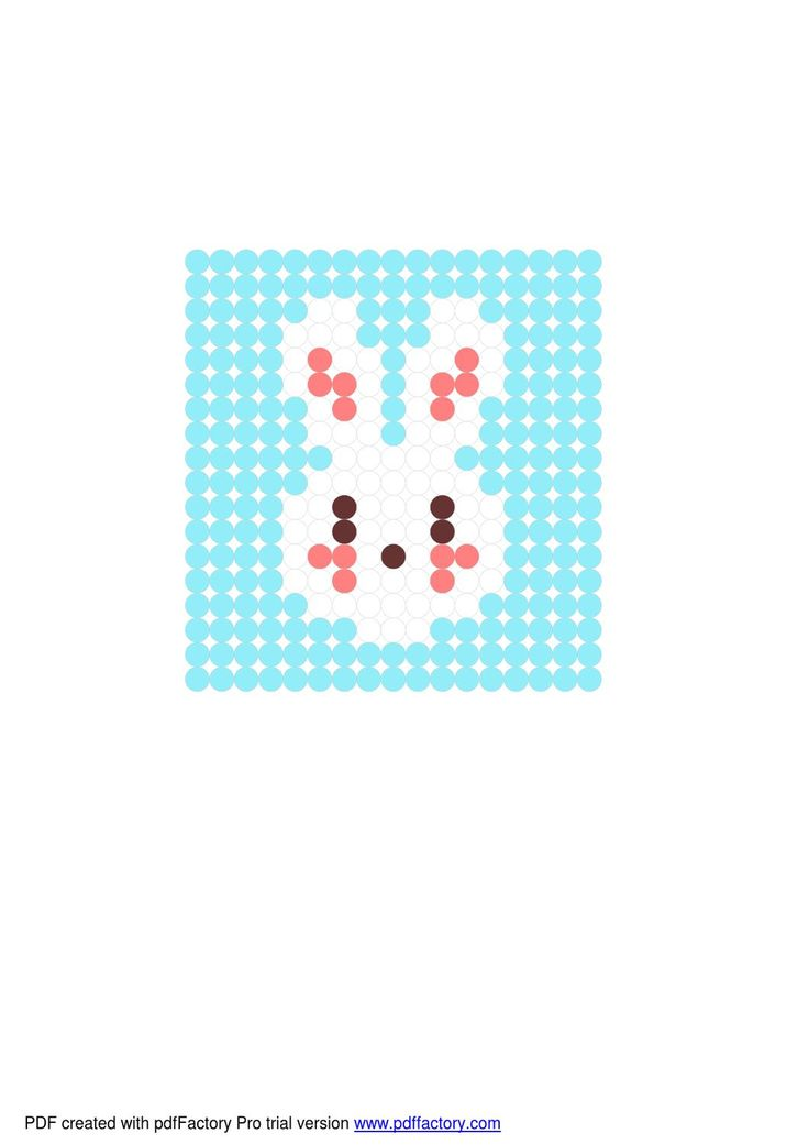 ISSUU - Easter Bunny hama bead pattern by Kim Lawrence