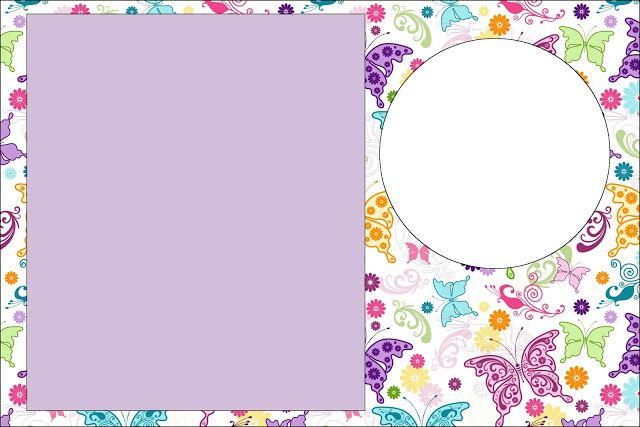 Fundo de borboletas coloridas kit completo com molduras for Paginas decoracion online