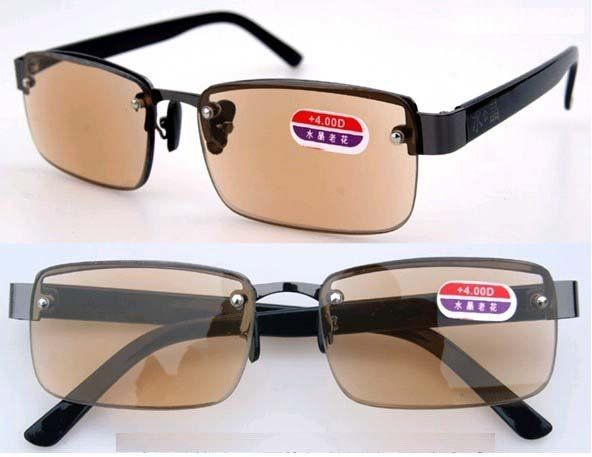 3211da9616f New Arrival High Quality Alloy Brown Lens Reading Glasses