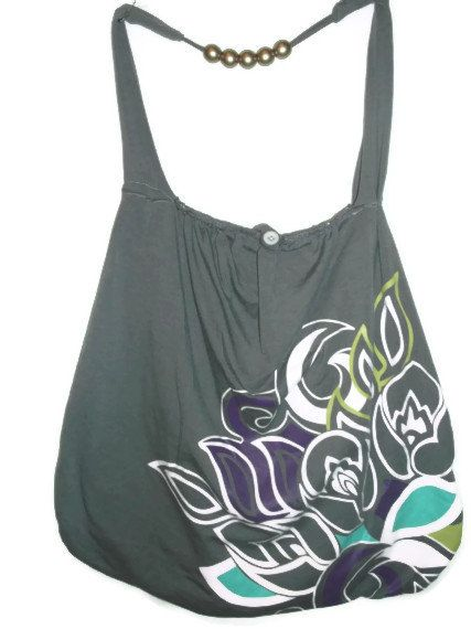 Grey Hippie Bag Large by EleCtricAmethyst on Etsy, $45.00coupon code SPRING2013