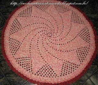 Artesanatos em Crochês Vanda: TAPETE REDONDO PARA SALA COM GRÁFICO E RECEITA