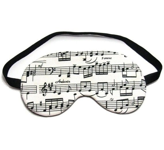 Music Sheet Sleep Eye Mask by oddsnblobs on Etsy, $12.00