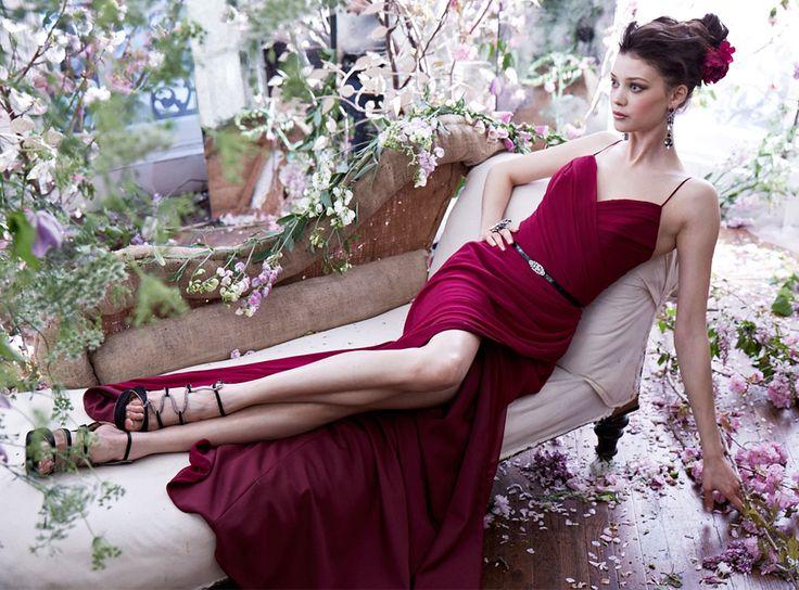 1000  images about NOIR BY LAZARO on Pinterest  Lace bridesmaids ...
