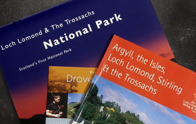 Visit Scotland accommodation guides, whats-on guides and exhibition materials