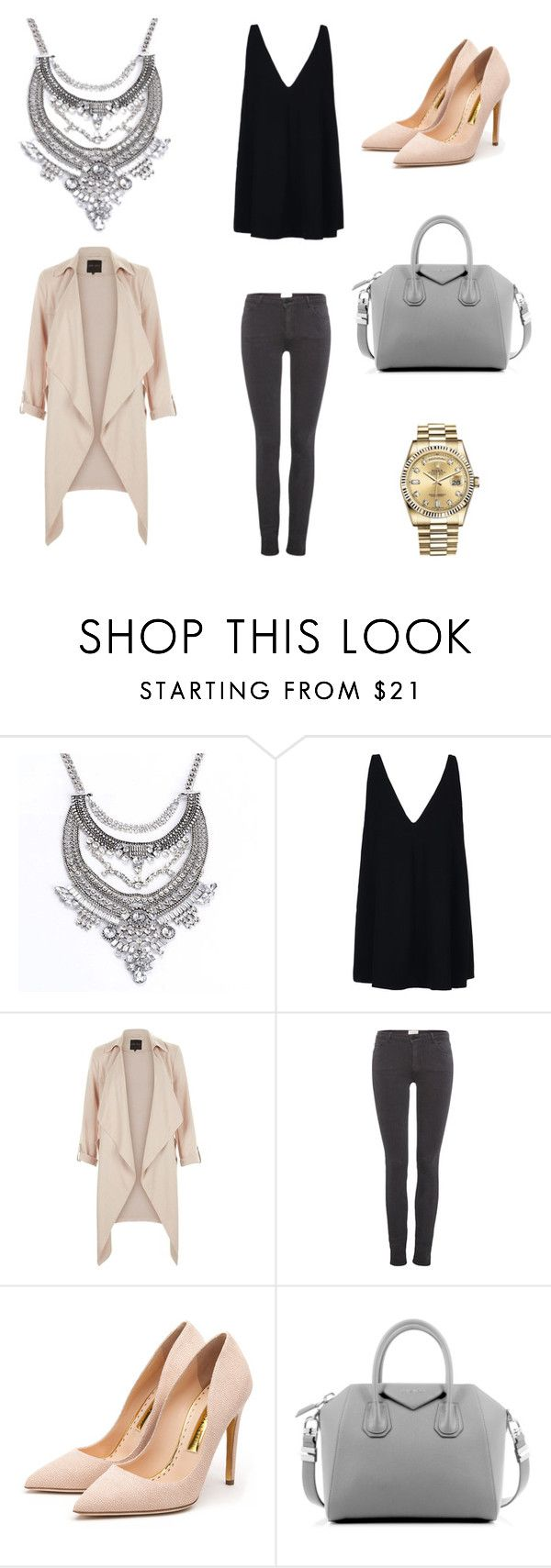 Perfection by shop-styleloft on Polyvore featuring STELLA McCARTNEY, American Vintage, Rupert Sanderson, Givenchy and Rolex.  You can find the necklace on www.styleloft.dk