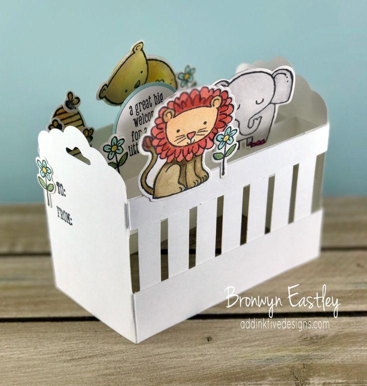 'A Little Wild' Baby Crib Pop-Up Card Tutorial